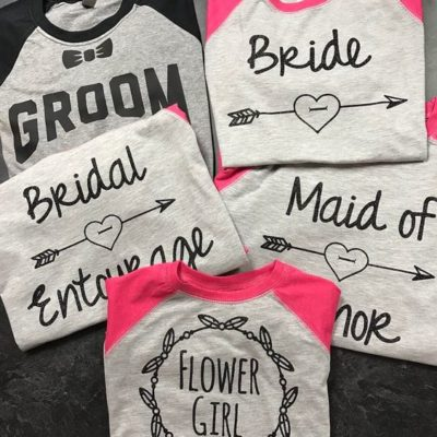 Bridal Party Set Las Playeritas Custom Print